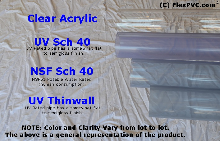 Pvc Clear Pipe Uv Thinwall At Flexpvc 174